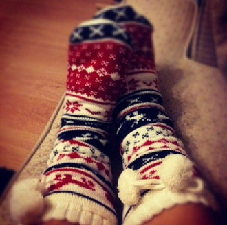 style cute christmas socks christmas gift cute outfit pompom reindeer reindeer print snowflake socks snowflake ponpon winter clothes