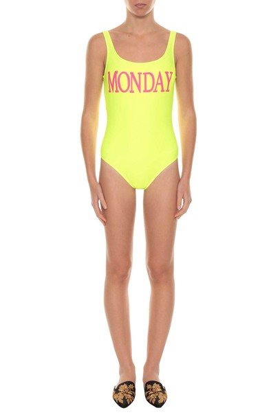 Alberta Ferretti rainbow swimwear