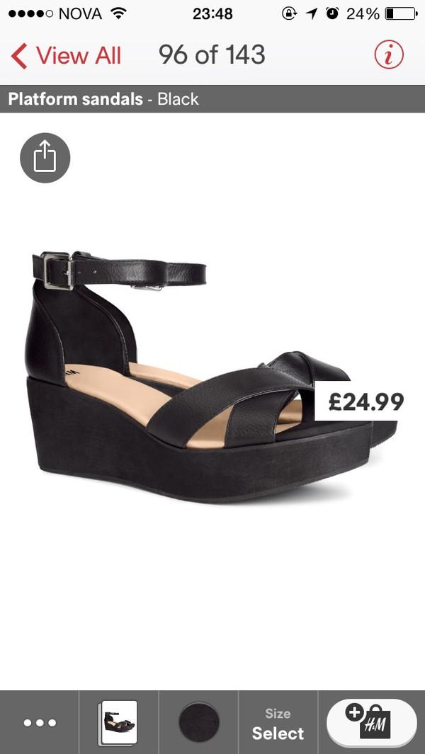 shoes black platform shoes sandals