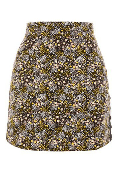 Topshop skirt mini skirt mini floral black