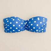 polka dots,blue swimwear,swimwear