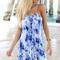 Blue mini dress - blue tye-dye mini dress | ustrendy
