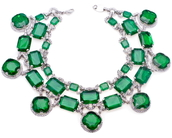 jewels,emerald green necklace,cubic zirconia,necklace,jewelry