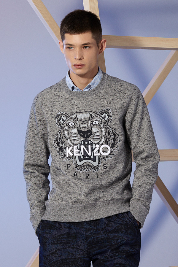 sweater kenzo grey menswear wheretoget. Black Bedroom Furniture Sets. Home Design Ideas