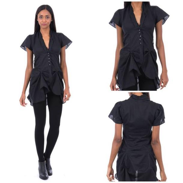 shirt black black shirt draped