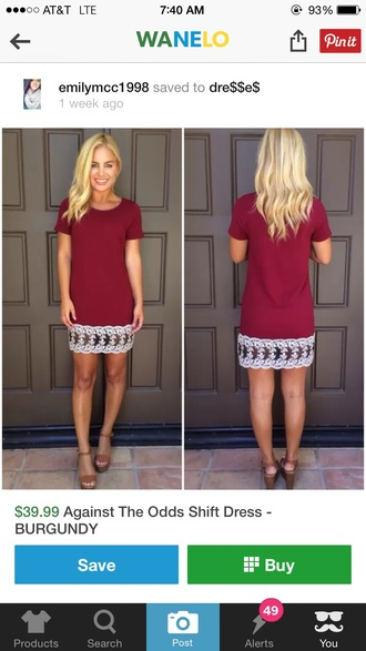 dress shift dress burgundy burgundy dress short dress fall outfits maroon/burgundy white lace dress white dress white lace white lace dress tight casual casual dress