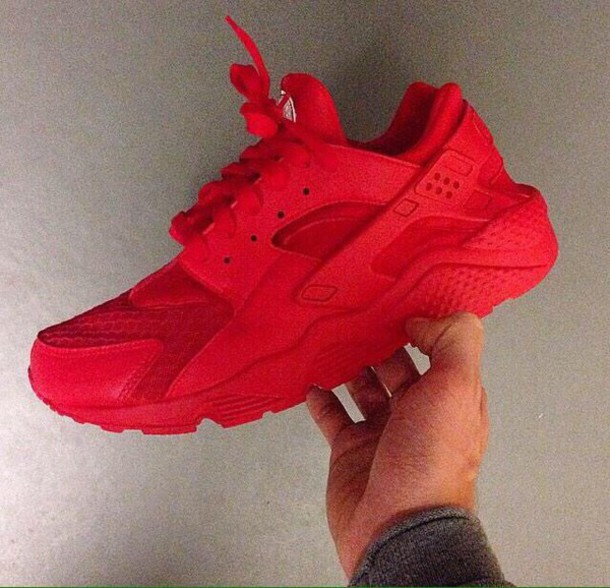shoes red shoes huarache nike sneakers