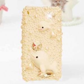 iphone4S / 5 Mobile Shell dolphin diamond pearl shell Apple 45-generation mobile phone sets a generation of fat(diamond)