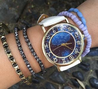 jewels zodiac signs bracelets astrology zodiac capricorn scorpio aries lio cancer libra hand jewelry jewelry watch blue space mystical stacked bracelets bling