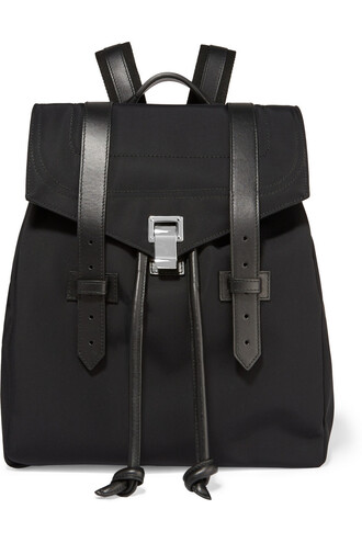backpack canvas backpack leather black bag