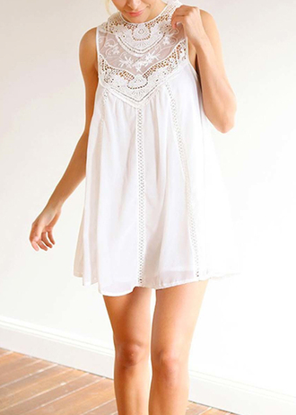 dress lace lace dress white
