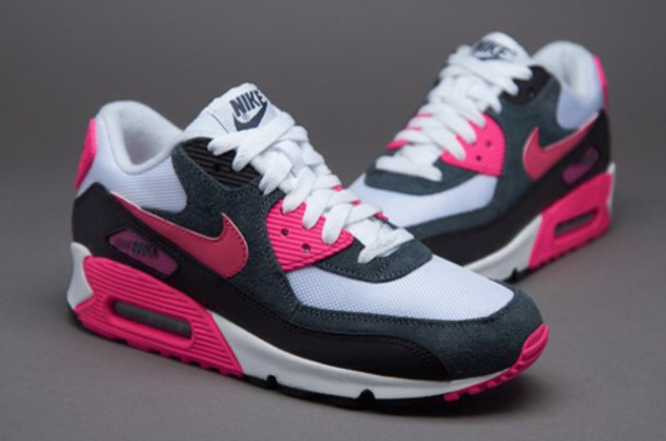 big sale 27281 2d26d pink black white nike air max 90
