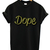 Dope Leopard print black t shirt