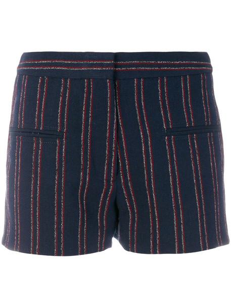 Carven shorts striped shorts women cotton blue