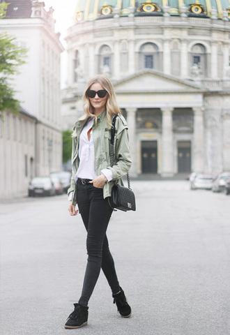 passions for fashion blogger shirt jacket jeans bag shoes belt sunglasses