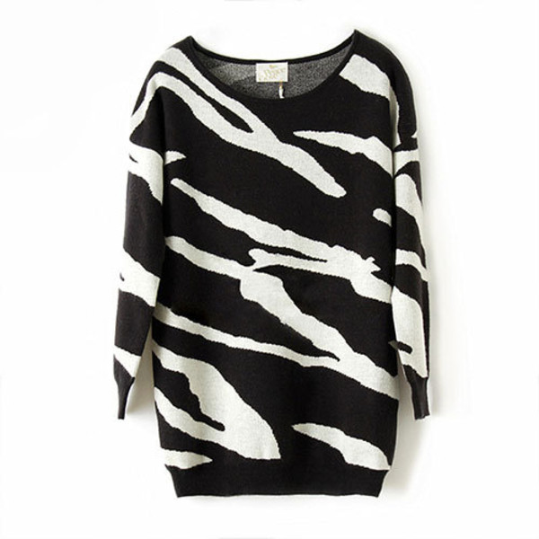 sweater retro leisure contrast color
