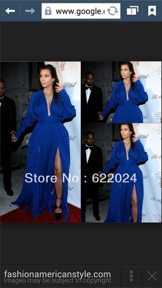 dress kardashians blue dress
