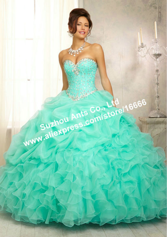 dress, ball gown dress, prom dress, tiffany blue, long dress, aqua ...