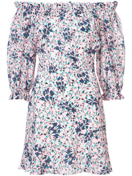 Saloni dress mini dress mini women blue silk