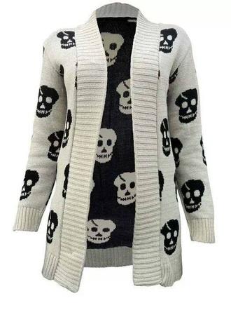 cardigan skulls sweater