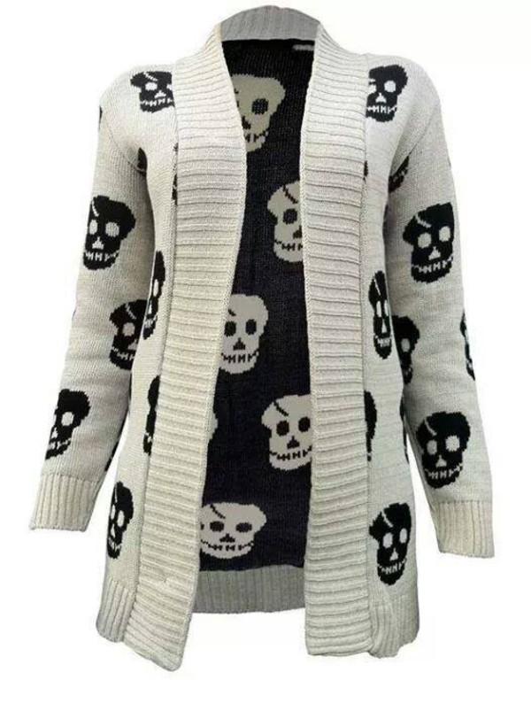 cardigan skull sweater