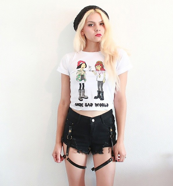 Cartoon Print Boxy T-shirt