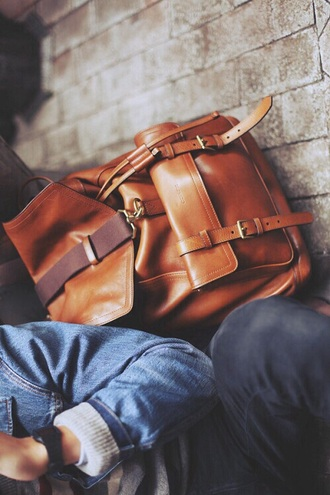 bag leather brow leather backpack mens accessories