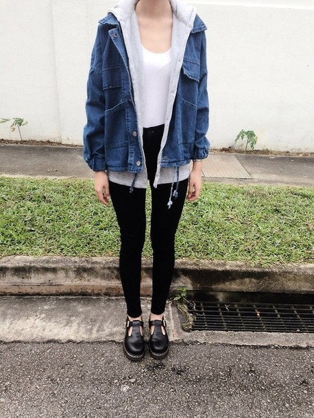 Jacket Clothes Denim Jacket Winter Outfits Winter Outfits Grunge Punk Hioster Shoes ...