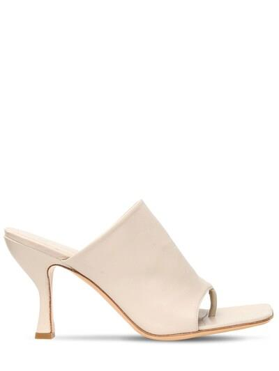 GIA X PERNILLE TEISBAEK 80mm Leather Thong Sandals Nude