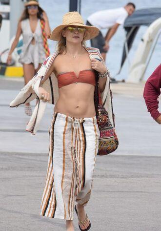 swimwear kate hudson hat bikini bikini bottoms bikini top sunglasses flip-flops bag necklace jewels