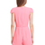 Pink Cap Sleeve Deep V Neck Slim Jumpsuit - Sheinside.com