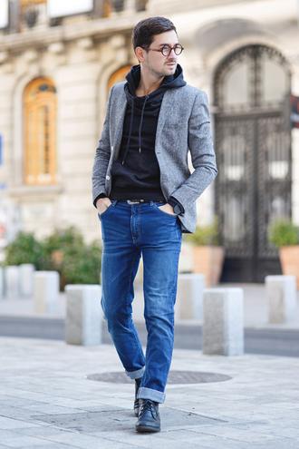 the mysterious girl blogger mens blazer mens jeans