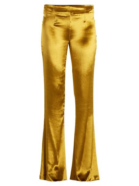 Galvan flare velvet gold yellow pants
