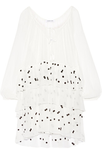 dress mini dress mini chiffon embroidered silk