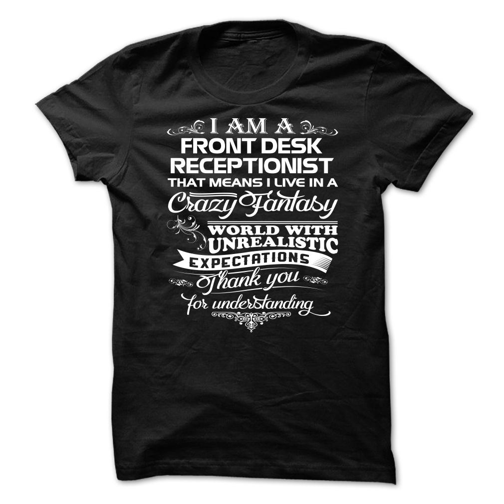 Awesome Front Desk Receptionist T-Shirt & Hoodie