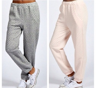 grey sweatpants pants cotton grey sweatpants padded lines quilted