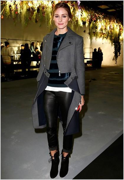 coat pants top olivia palermo shoes