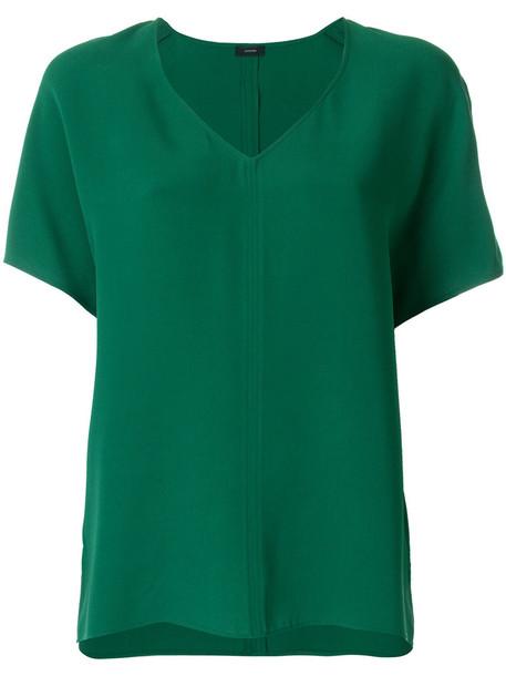 Joseph blouse women silk green top