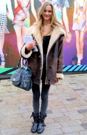 coat,shearling,brown jacket,jacket