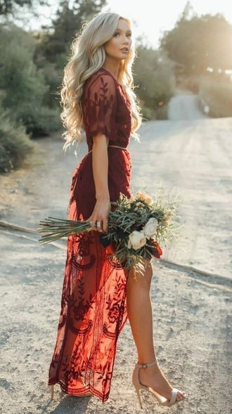 dress sheer maxi dress sheer floral lace wine maxi dress