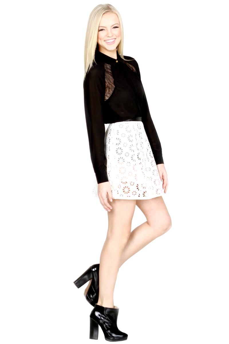 Daisy Eyelet Skirt