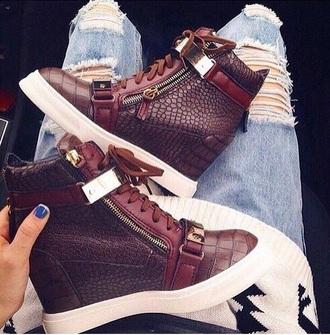 shoes red ruby burgundy mahogany heels wedges sneakers wedge sneakers luxury leather