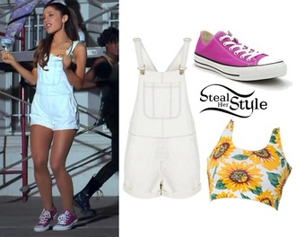 shorts top short overalls converse cardigan ariana grande jumpsuit beautiful jacket style stealer crop tops overalls