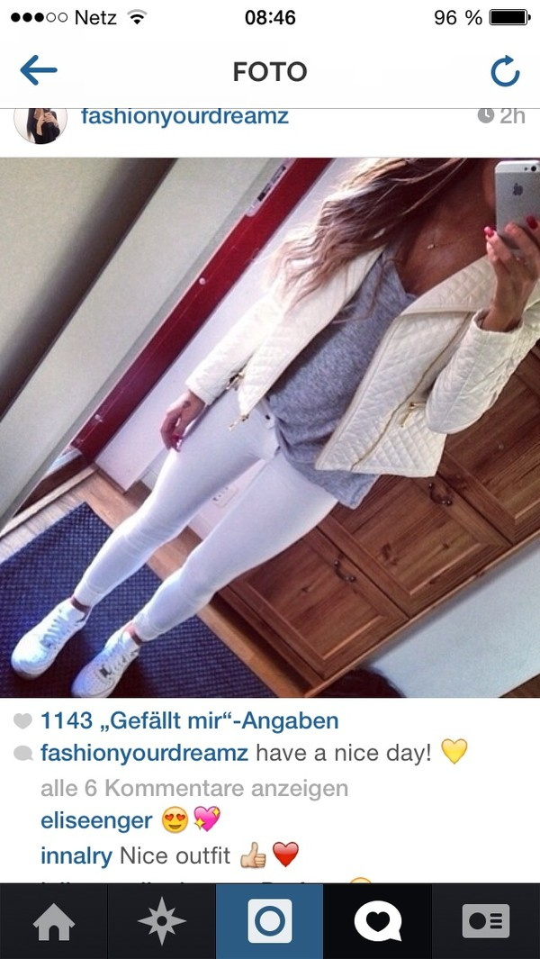 jacket wow jeans and shoes white jacket wow