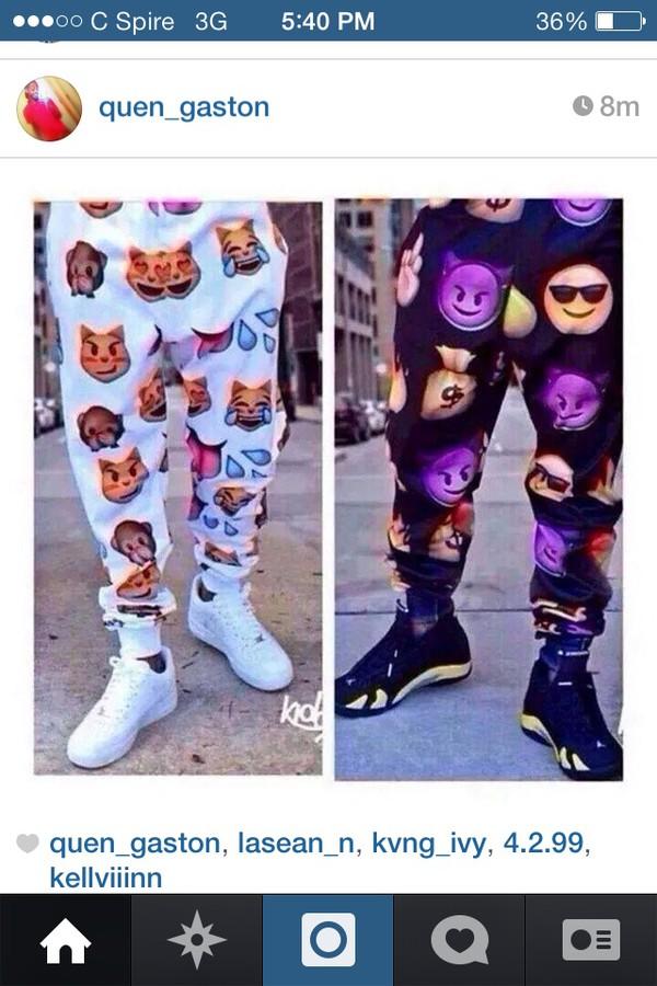 pants emoji print joggers pants emoji pants