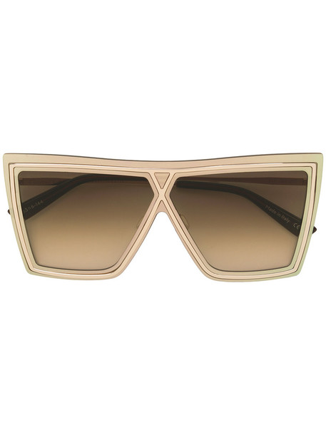 Christian Roth Eyewear - Ventriloquist sunglasses - women - Acetate/metal - 63, Grey, Acetate/metal in metallic