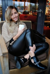 let's talk about fashion !,blogger,bag,cut out ankle boots,leather pants,knitwear
