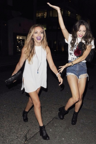 white dress short style jade little mix short dress cute dress