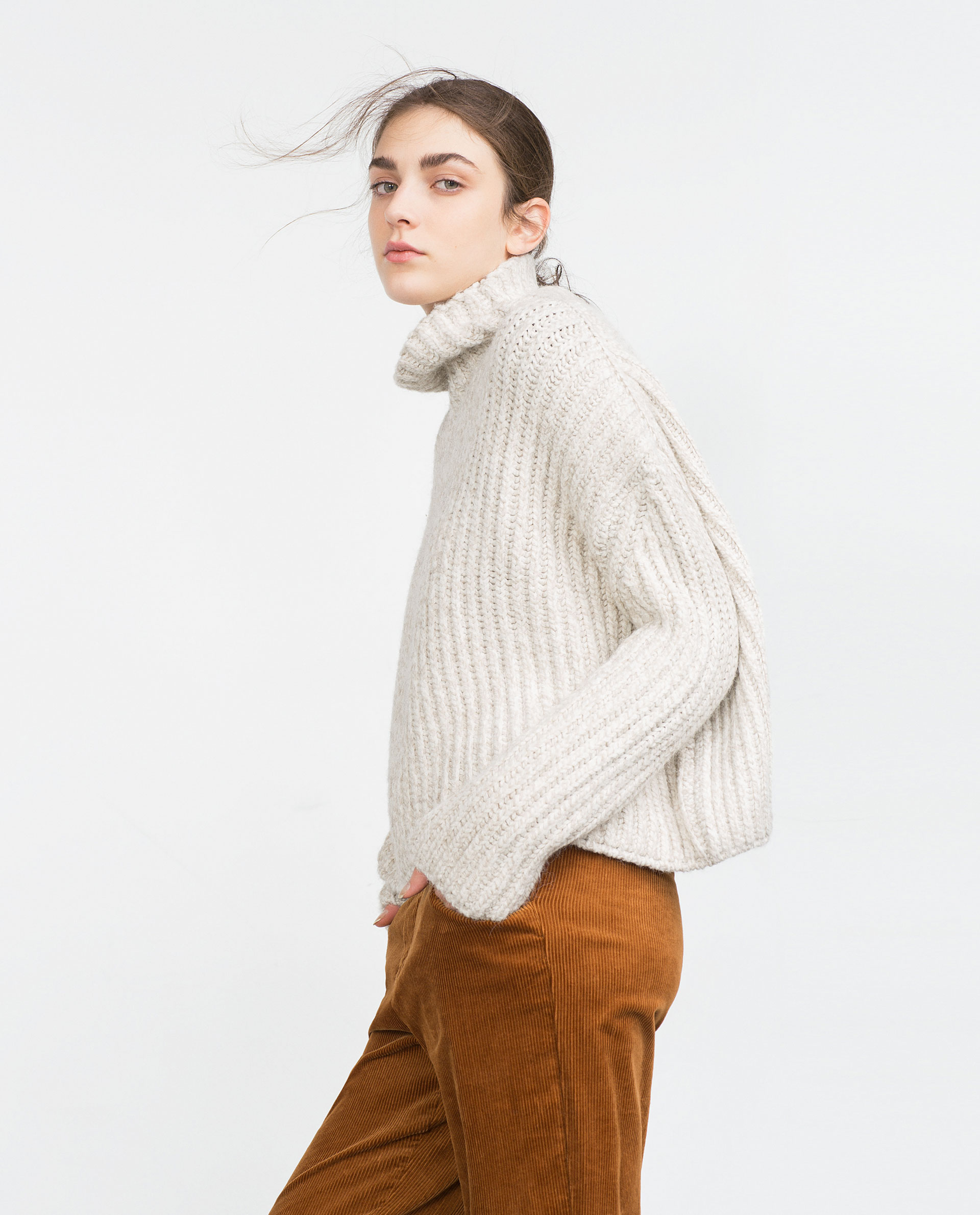 b0a58fc5 HIGH NECK SWEATER - Knitwear - WOMAN - SALE | ZARA Denmark