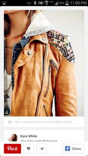 jacket,leather jacket,aztec